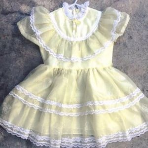 Other - AMAZINg Vintage Lemony Yellow Party Dress